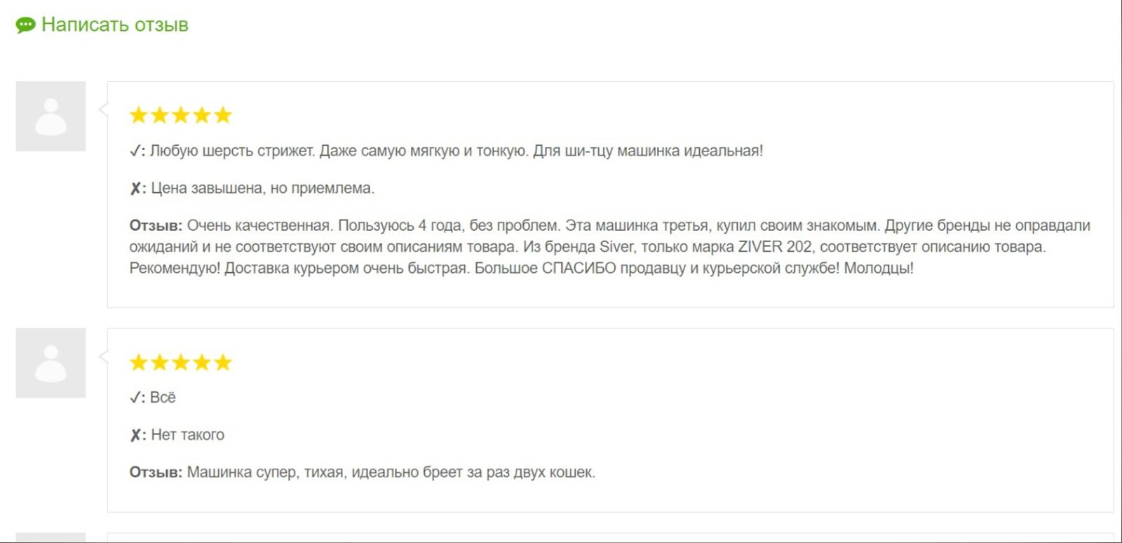 Ziver 20.ZV.002 машинка для стрижки животных отзывы: