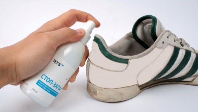 как вывести запах кошачьей мочи из обуви специальными средствами