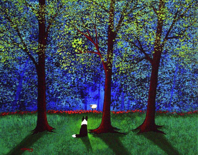 Собаки на картинах художника Тодда Янга
